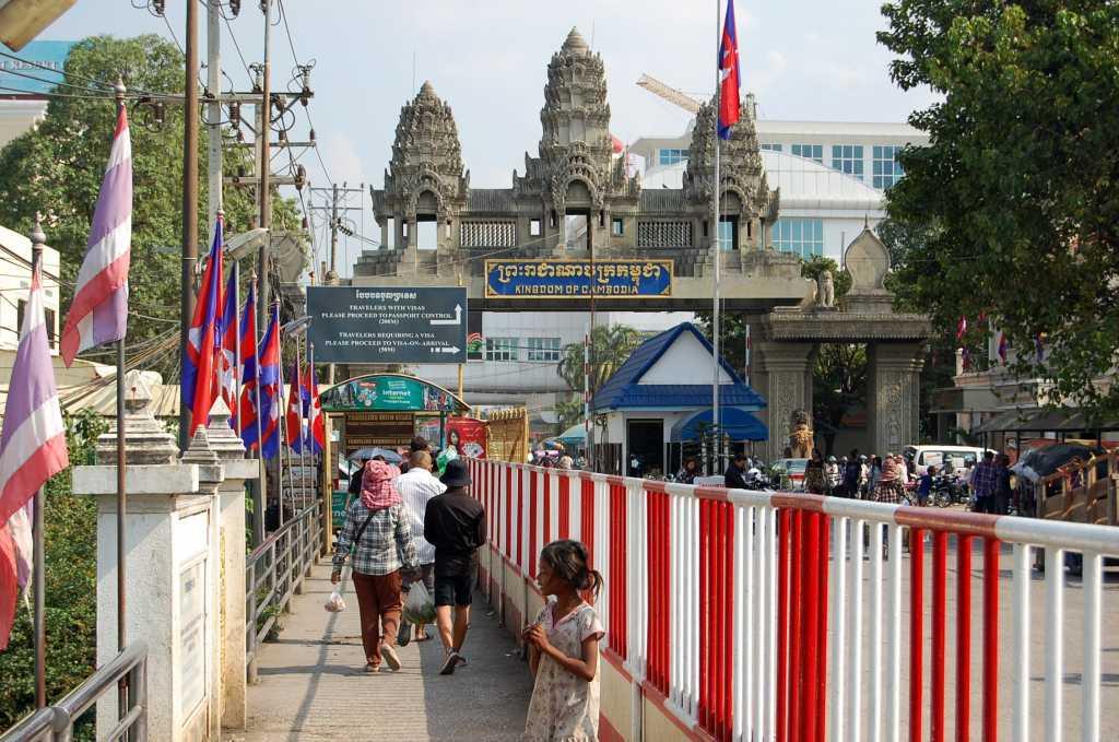 Poipet, granița cambodgiană
