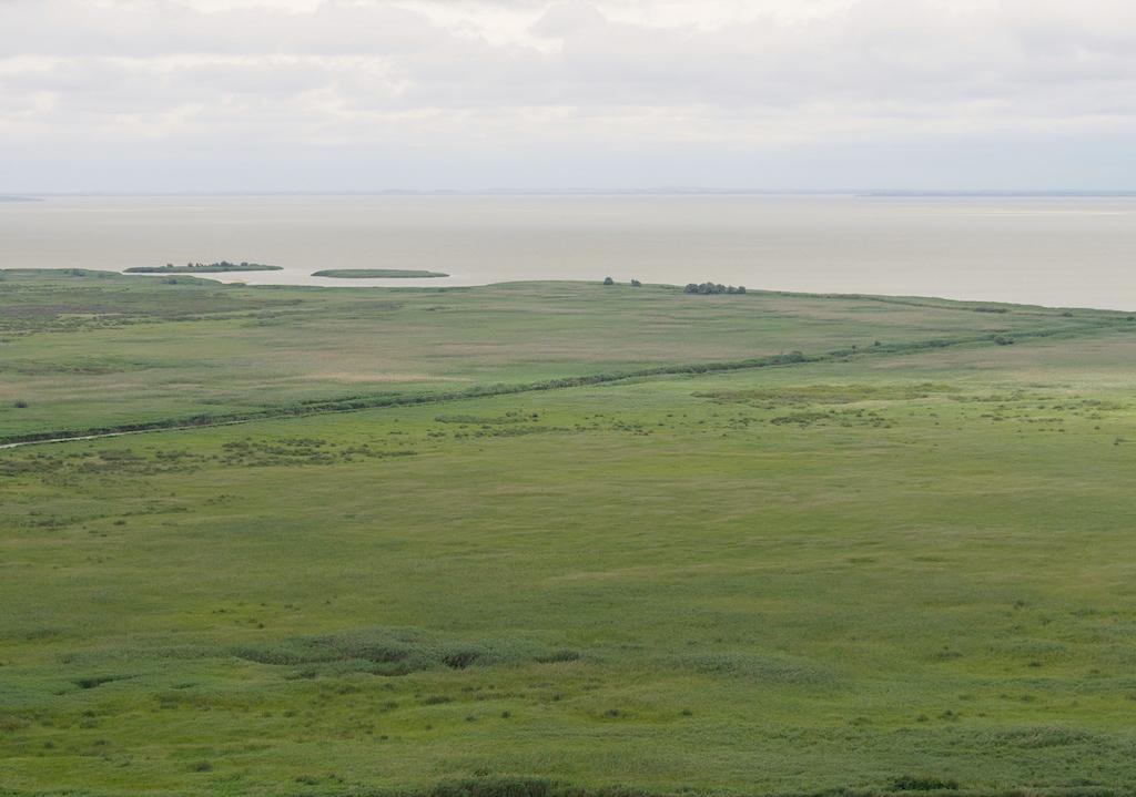 Vedere către lacul razelm de la cetatea enisala