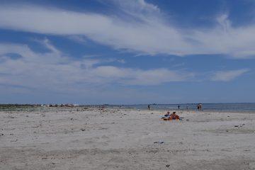 Oameni pe plaja Sulina