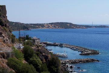 vedere de sus la Assos, Turcia