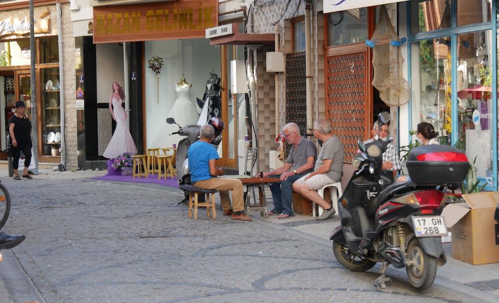 oameni, stradă, Canakkale, Turcia