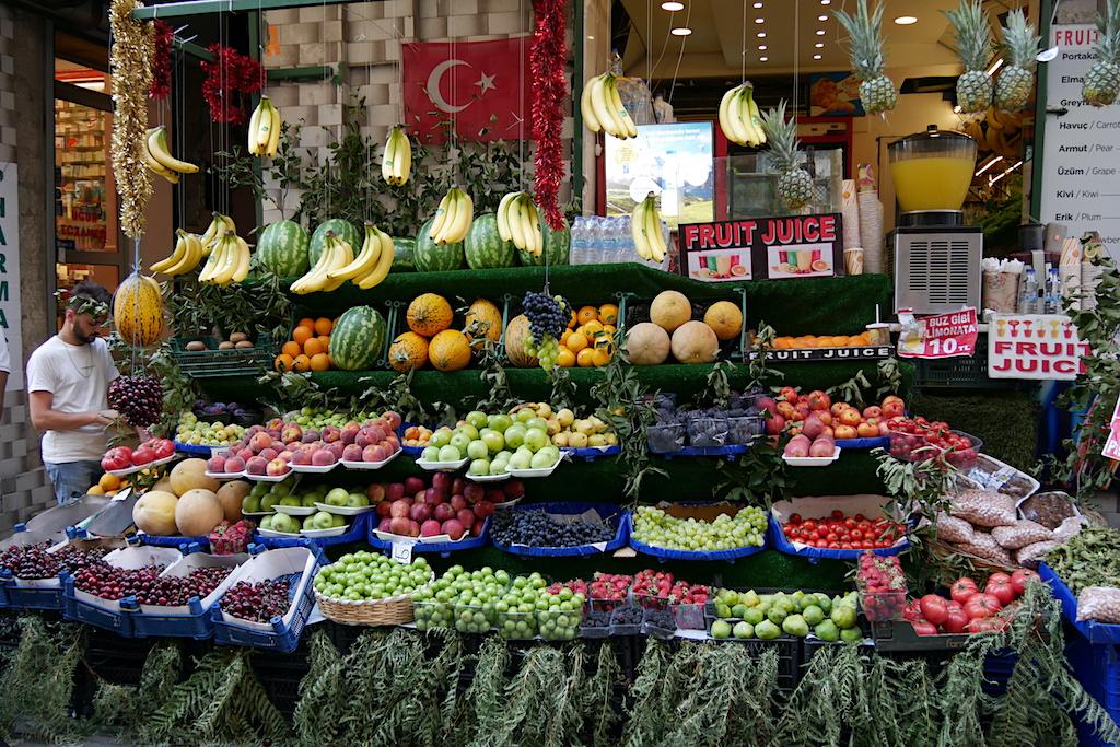fructe, legume, vanzator, istanbul