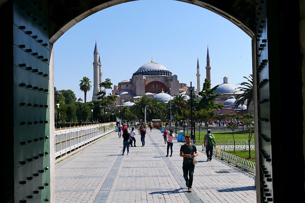 ușă deschisă, moschee, trecători, istanbul