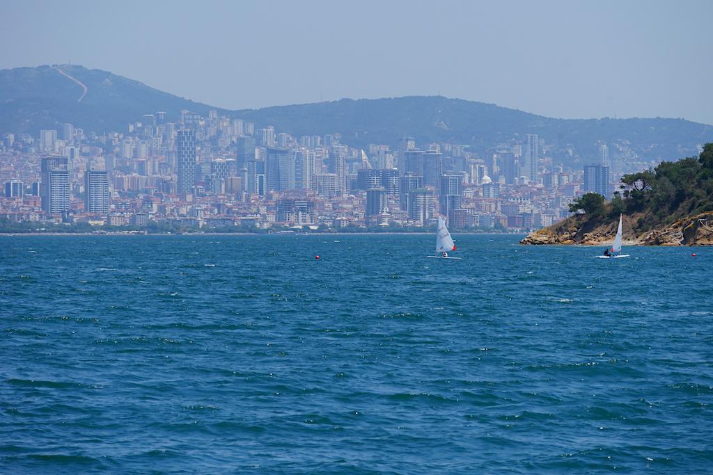 bărci, mare, oraș, istanbul