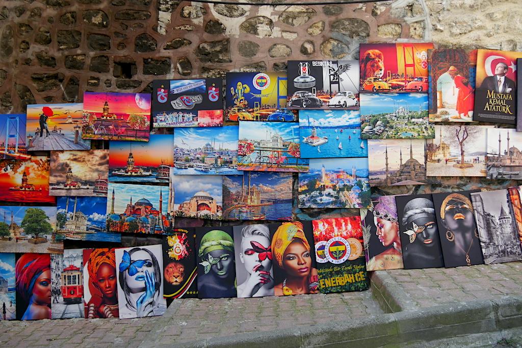 picturi, perete, stradă, Istanbul