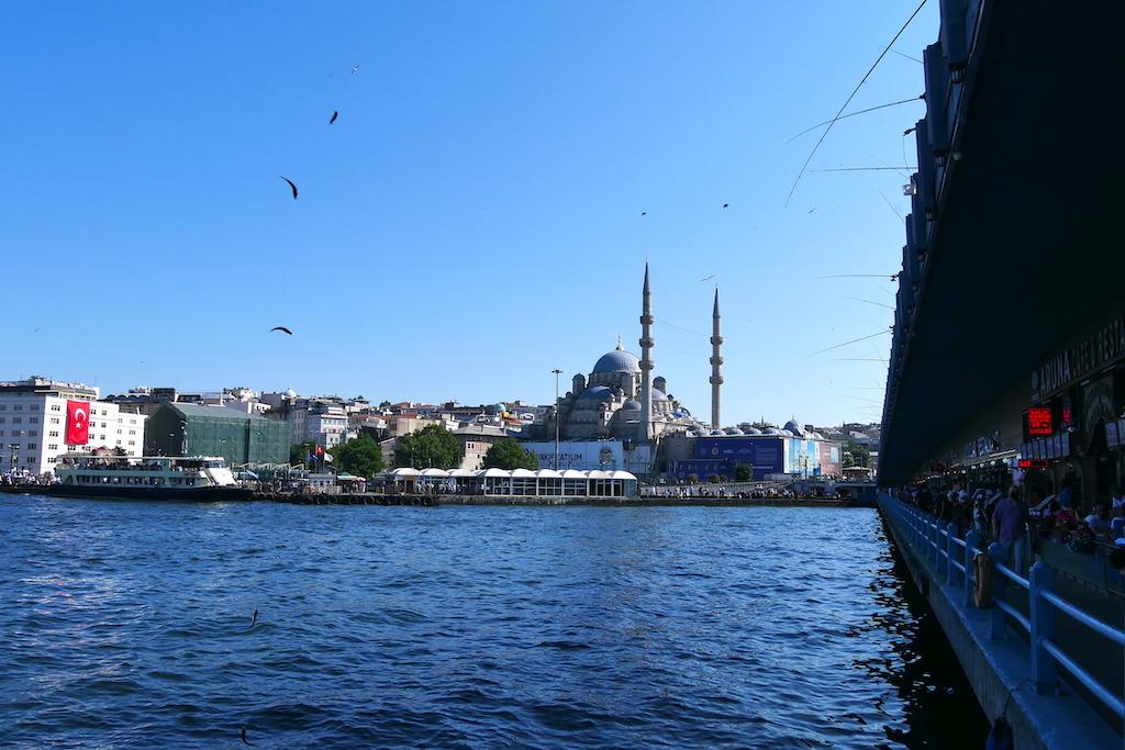 moschee, mare, pod, undițe